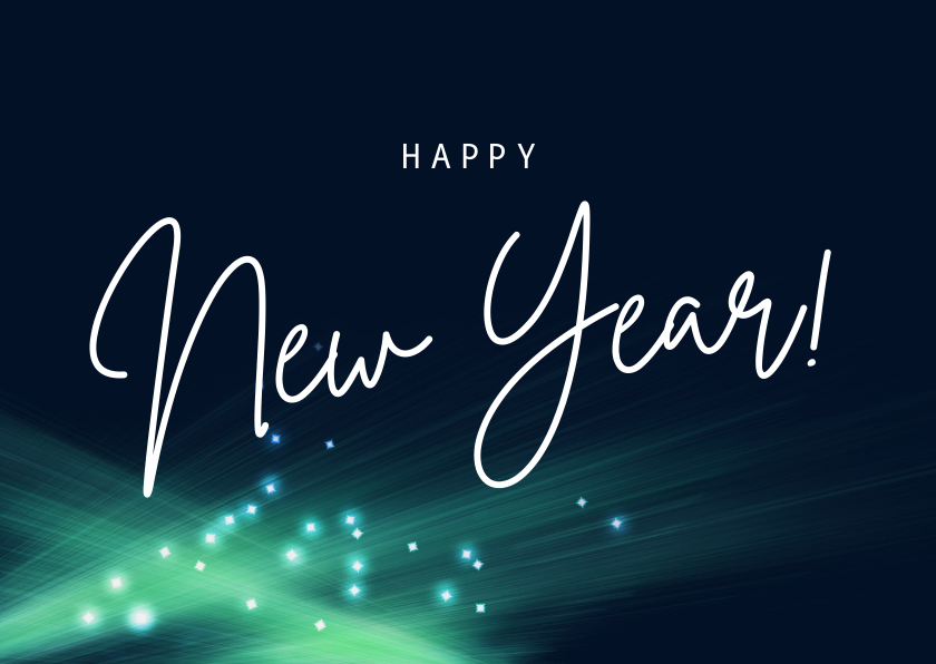 Nieuwjaarskaarten - Moderne nieuwjaarskaart licht mint groen