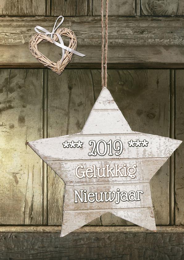 Nieuwjaarskaarten - Nieuwjaar 2018 Natural Look - SG