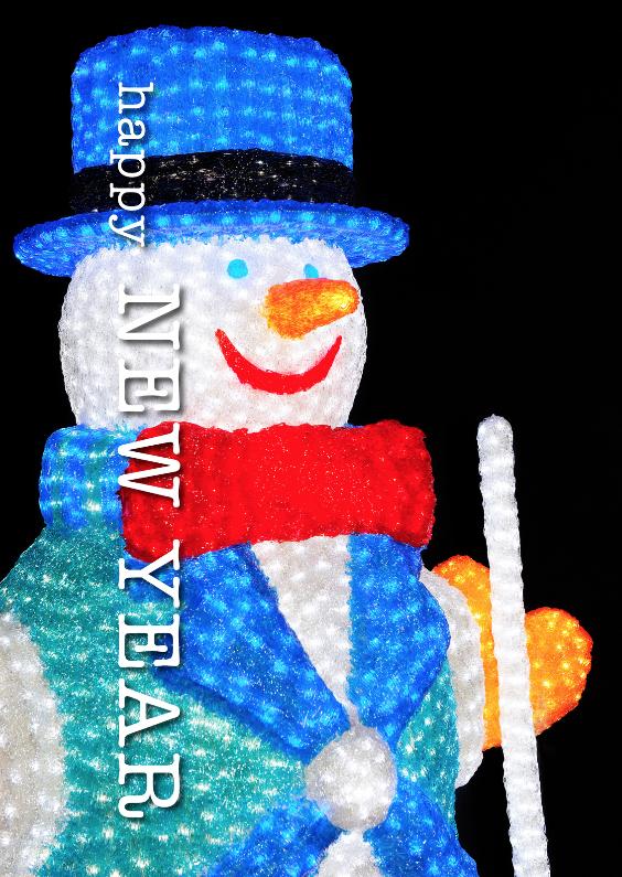Nieuwjaarskaarten - Nieuwjaar 6 - Sneeuwpop - OT