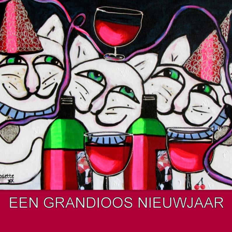 Nieuwjaarskaarten - Nieuwjaar - Animal party