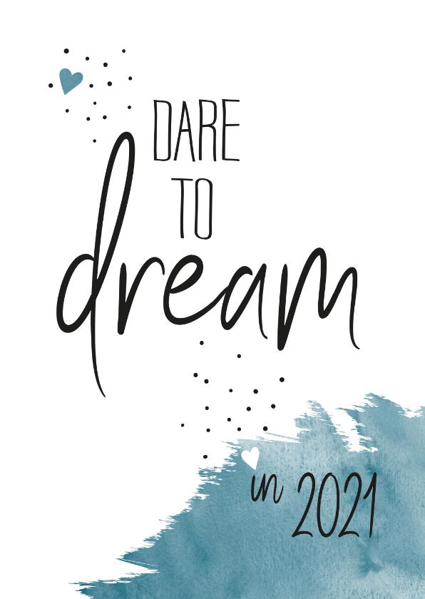 Nieuwjaarskaarten - Nieuwjaar Dare to dream in 2020