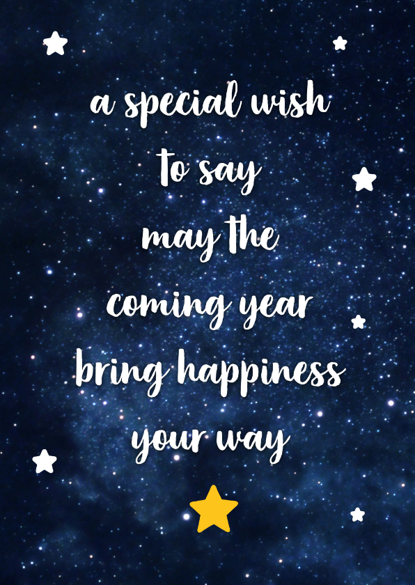 Nieuwjaarskaarten - Nieuwjaar - happiness your way