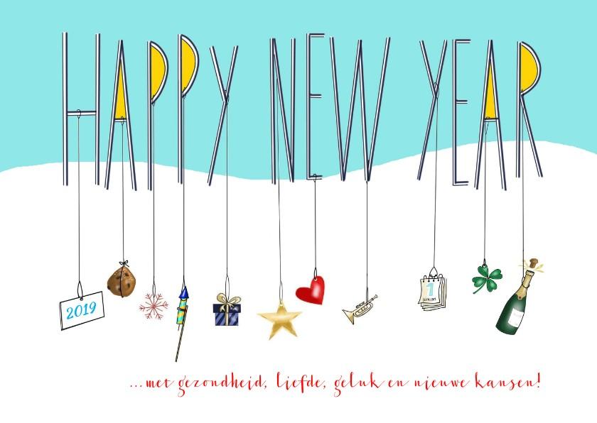 Nieuwjaarskaarten - Nieuwjaar - Happy New Year to you!