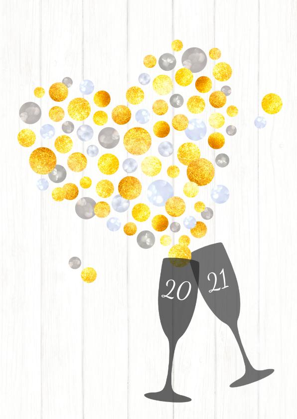 Nieuwjaarskaarten - Nieuwjaar Hartverwarmende Proost 2020