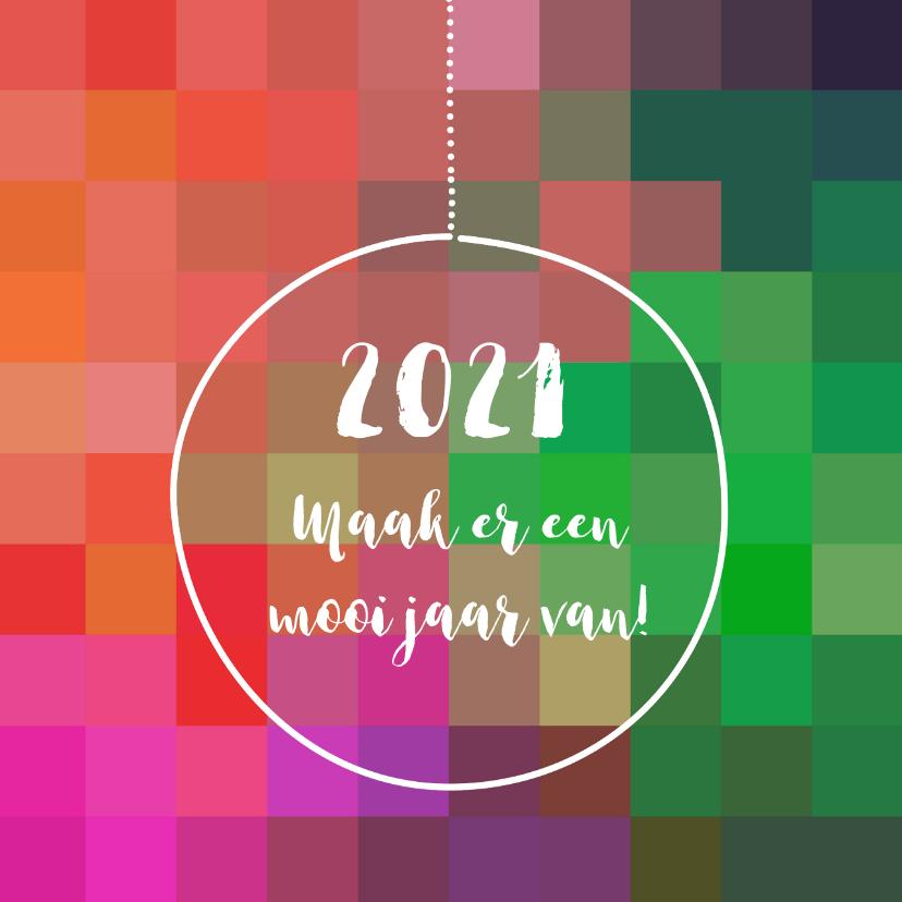 Nieuwjaarskaarten - Nieuwjaar kleurig eigen tekst