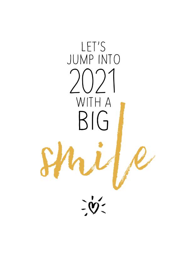 Nieuwjaarskaarten - Nieuwjaar Let's jump into the twenties with a big smile