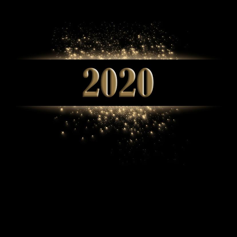 Nieuwjaarskaarten - Nieuwjaar met zwart en goud