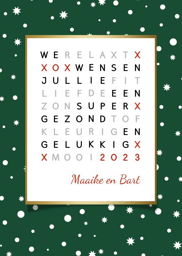 Nieuwjaarskaarten - Nieuwjaar woordzoeker puzzel
