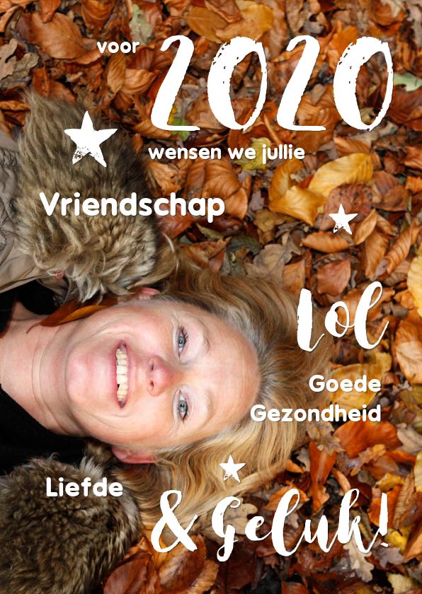 Nieuwjaarskaarten - Nieuwjaarskaart 2020 cover eigen foto
