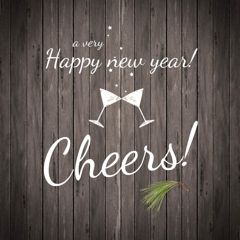 Nieuwjaarskaarten - Nieuwjaarskaart Cheers