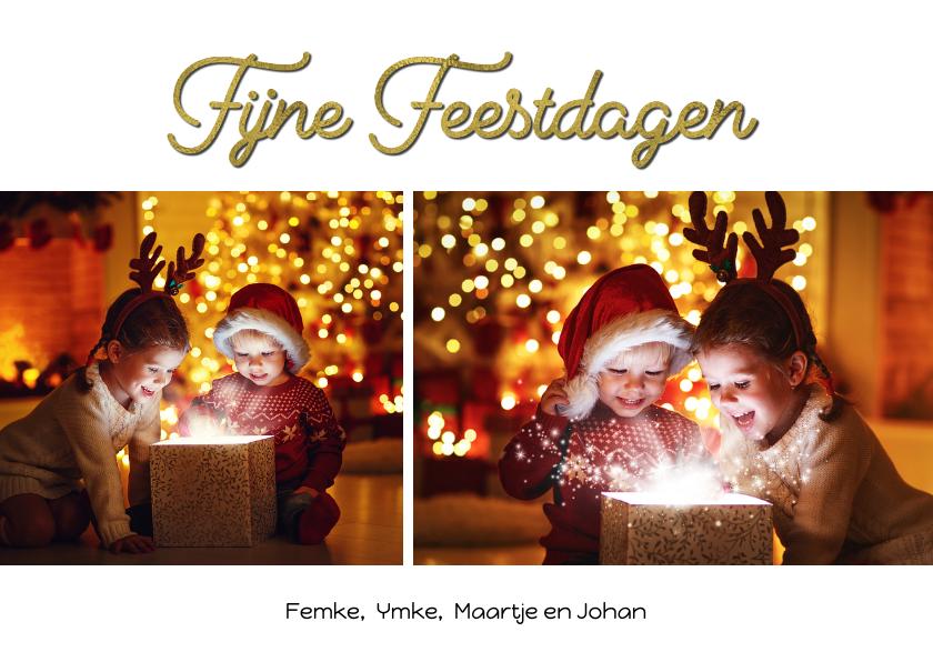 Nieuwjaarskaarten - Nieuwjaarskaart collage feestdagen
