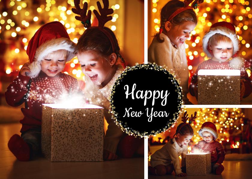 Nieuwjaarskaarten - Nieuwjaarskaart collage modern