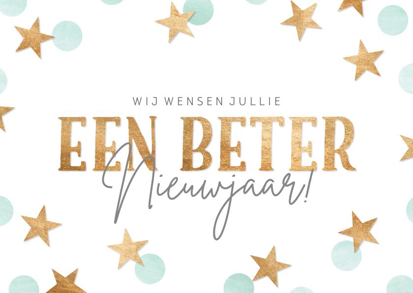 Nieuwjaarskaarten - Nieuwjaarskaart 'een beter nieuwjaar'