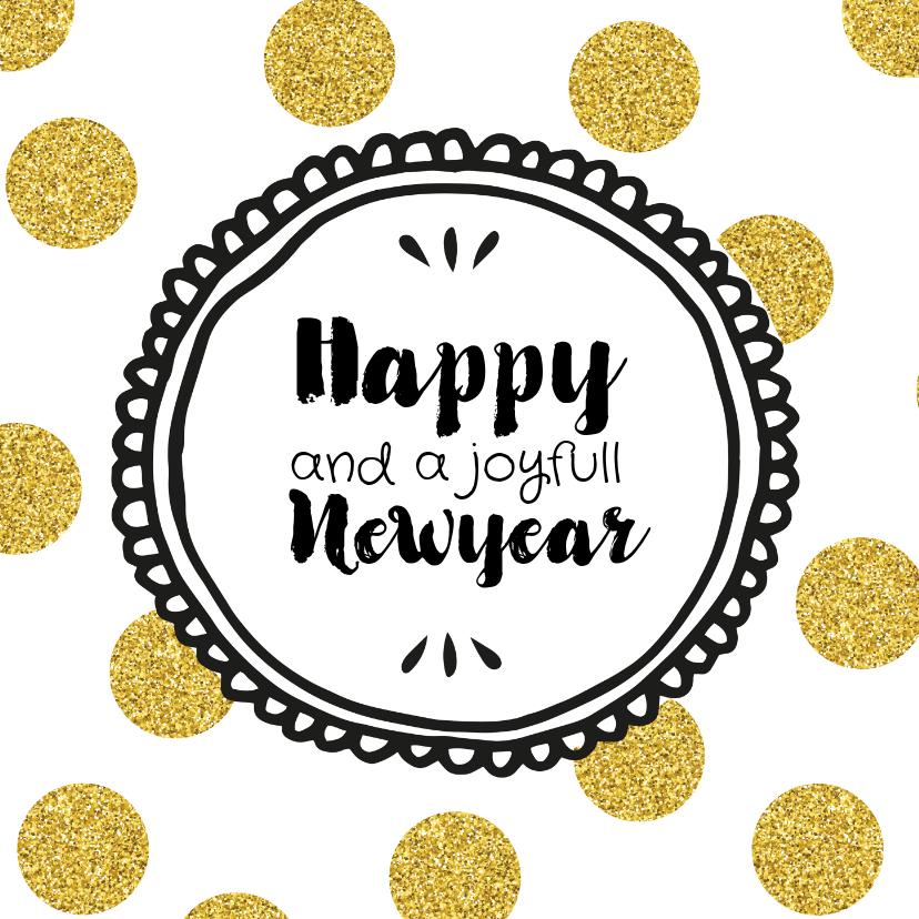 Nieuwjaarskaarten - Nieuwjaarskaart een dot goud