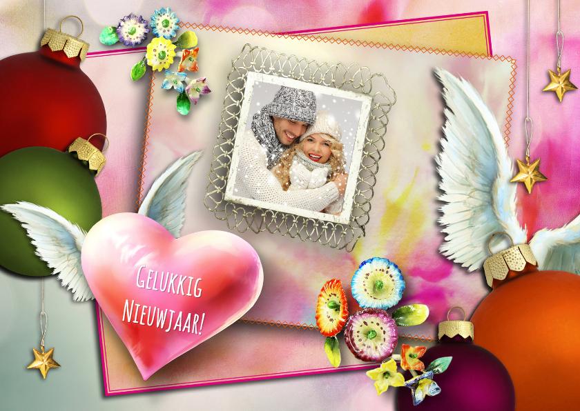 Nieuwjaarskaarten - Nieuwjaarskaart eigen foto collage 1