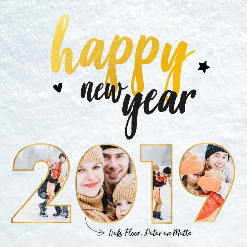 Nieuwjaarskaarten - Nieuwjaarskaart - foto collage 2019