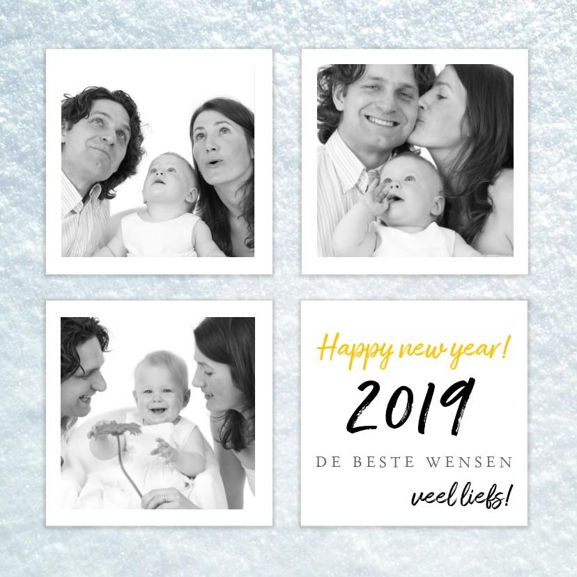 Nieuwjaarskaarten - Nieuwjaarskaart gelukkig nieuwjaar collage foto