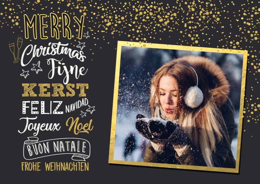 Nieuwjaarskaarten - Nieuwjaarskaart handlettering av
