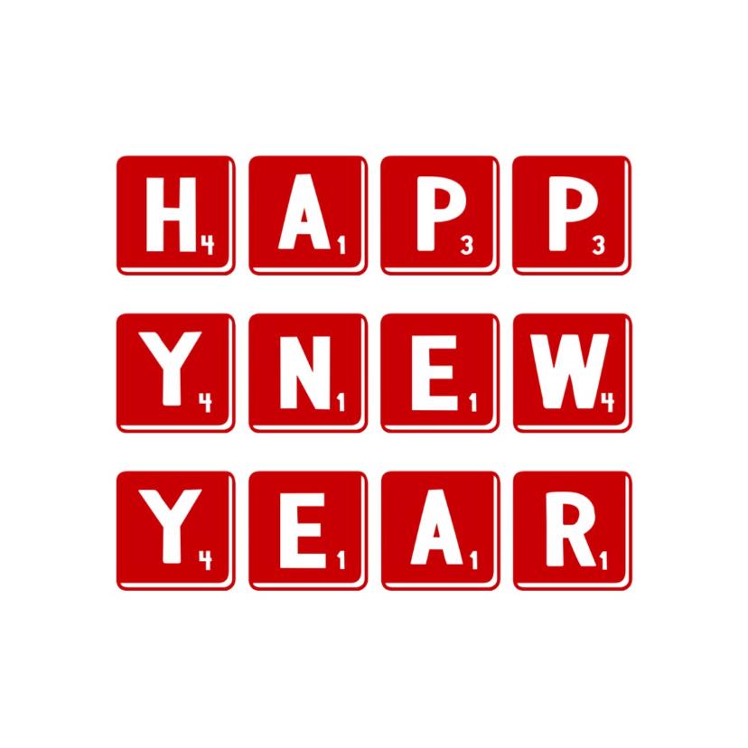 Nieuwjaarskaarten - Nieuwjaarskaart happy -LB