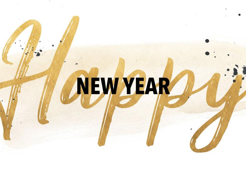 Nieuwjaarskaarten - Nieuwjaarskaart in goudlook