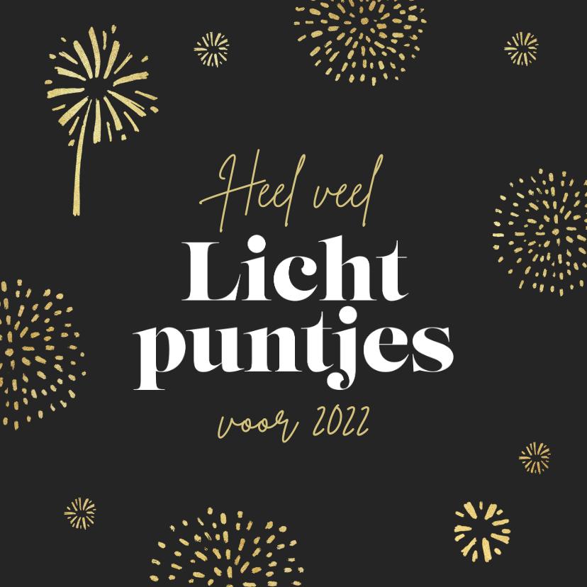 Nieuwjaarskaarten - Nieuwjaarskaart lichtpuntjes 2022 vuurwerk