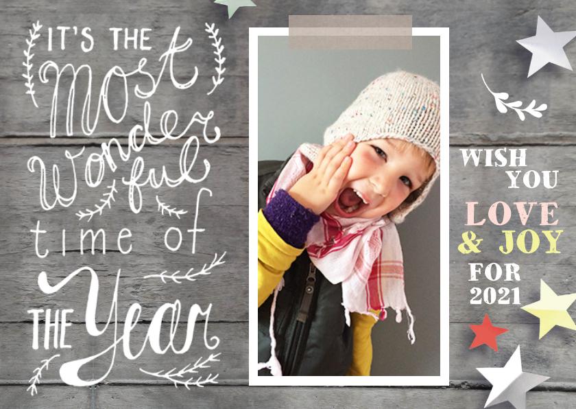 Nieuwjaarskaarten - Nieuwjaarskaart met eigen foto en creatieve tekst