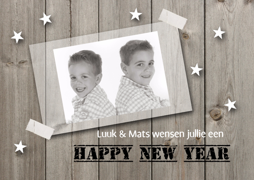 Nieuwjaarskaarten - Nieuwjaarskaart met foto 02