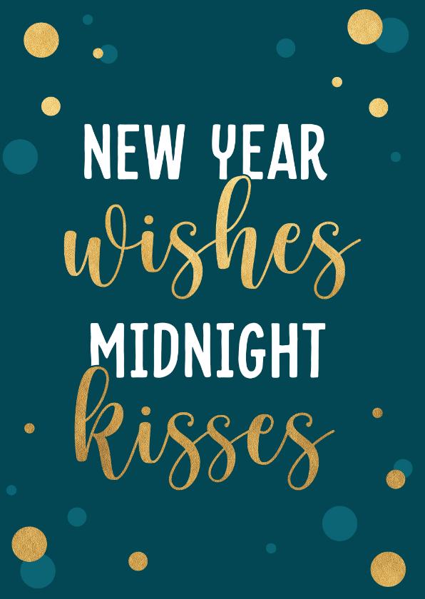 Nieuwjaarskaarten - Nieuwjaarskaart met gouden confetti