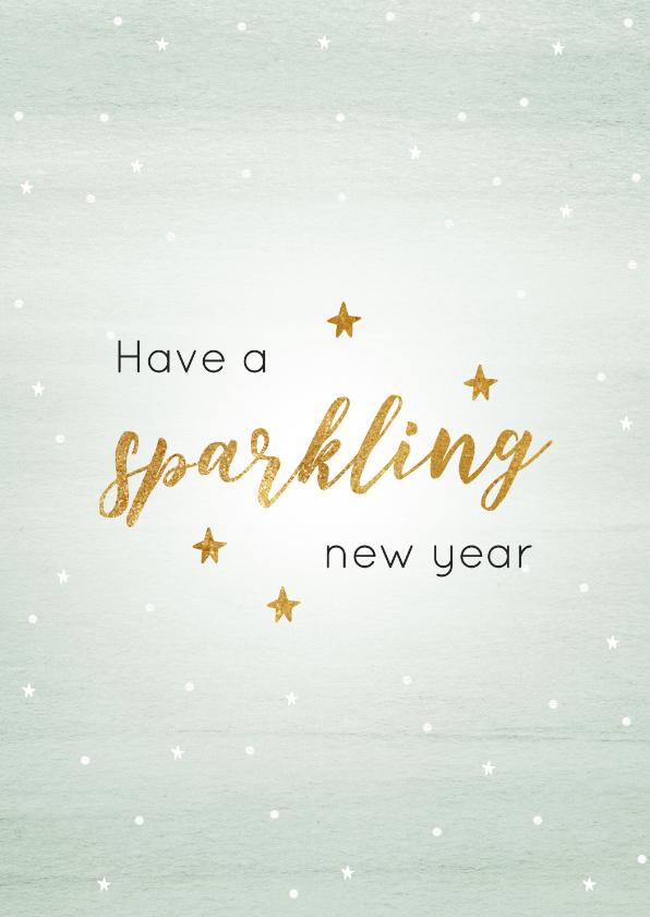 Nieuwjaarskaarten - Nieuwjaarskaart mint sparkling