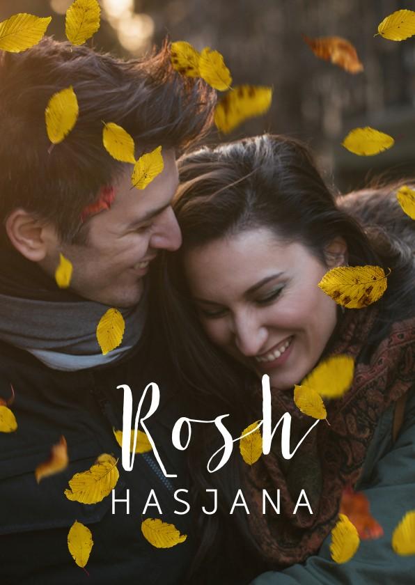 Nieuwjaarskaarten - Nieuwjaarskaart Rosh Hasjana met eigen foto