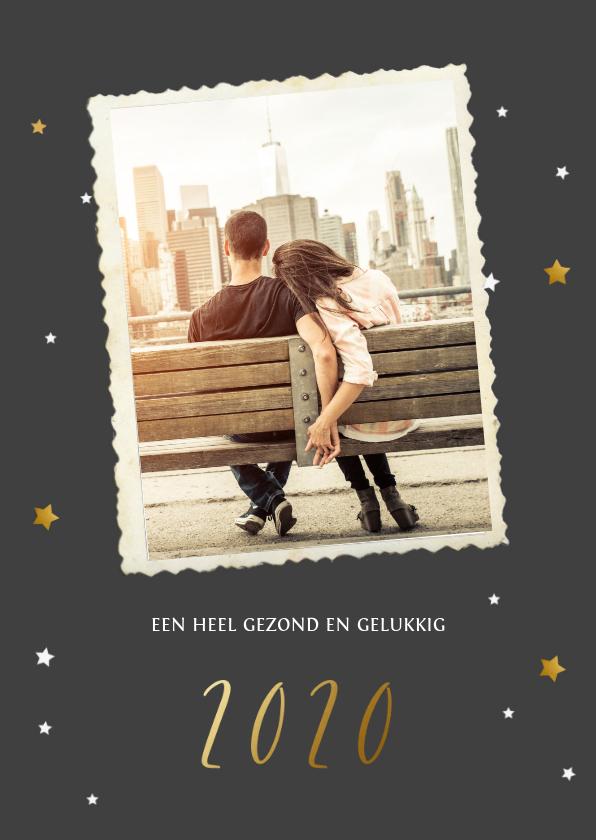 Nieuwjaarskaarten - Nieuwjaarskaart ster foto 2020