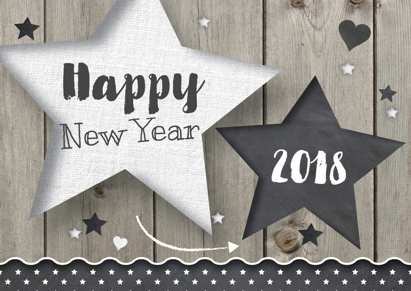 Nieuwjaarskaarten - Nieuwjaarskaart Ster - LOVZ