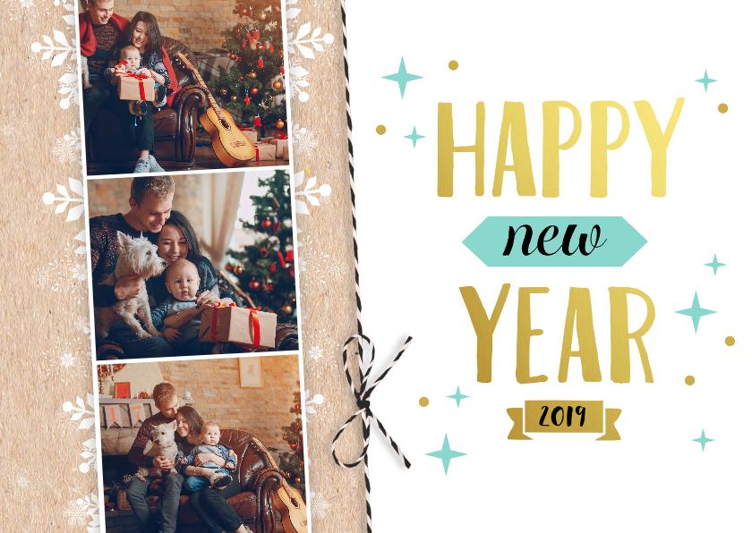 Nieuwjaarskaarten - Nieuwjaarskaart strik-PC