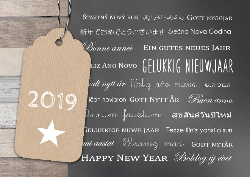 Nieuwjaarskaart Talen Label Bc Kaartje2go