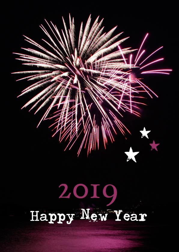 Nieuwjaarskaarten - Nieuwjaarskaart vuurwerk 2019