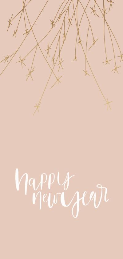 Nieuwjaarskaarten - Nieuwjaarskaart vuurwerk happy new year