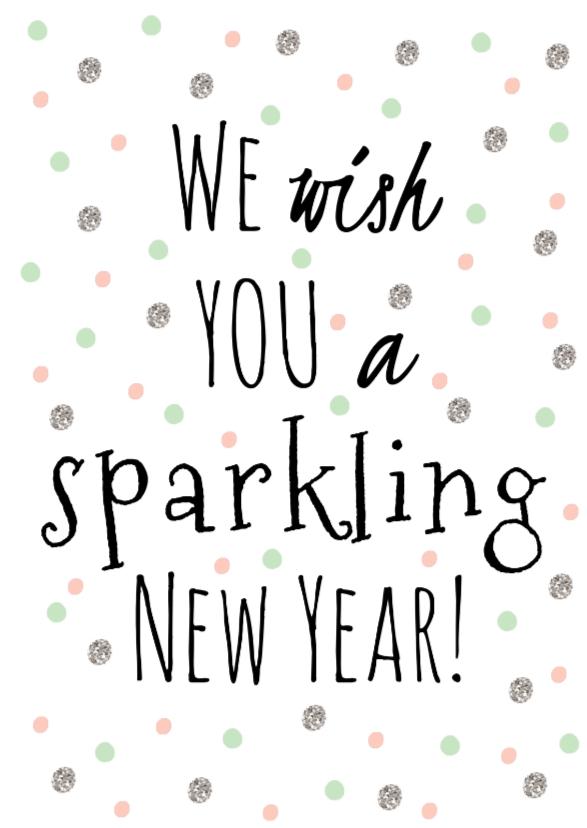 Nieuwjaarskaarten - Nieuwjaarskaartje Sparking - WW