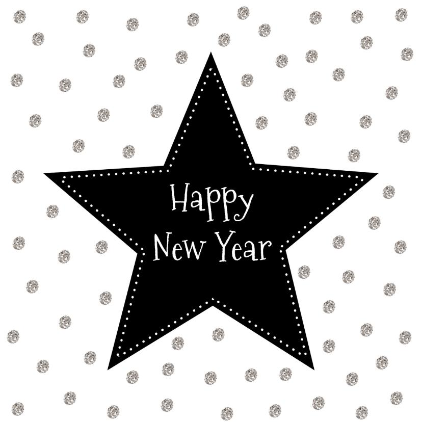 Nieuwjaarskaarten - Nieuwjaarskaartje Ster - WW