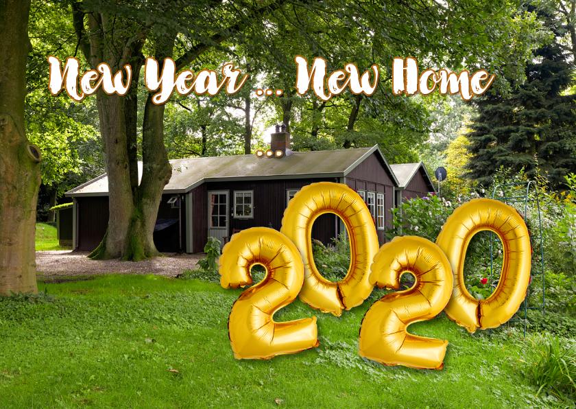 Nieuwjaarskaarten - Nieuwjaarsverhuiskaart New Year New Home 2019