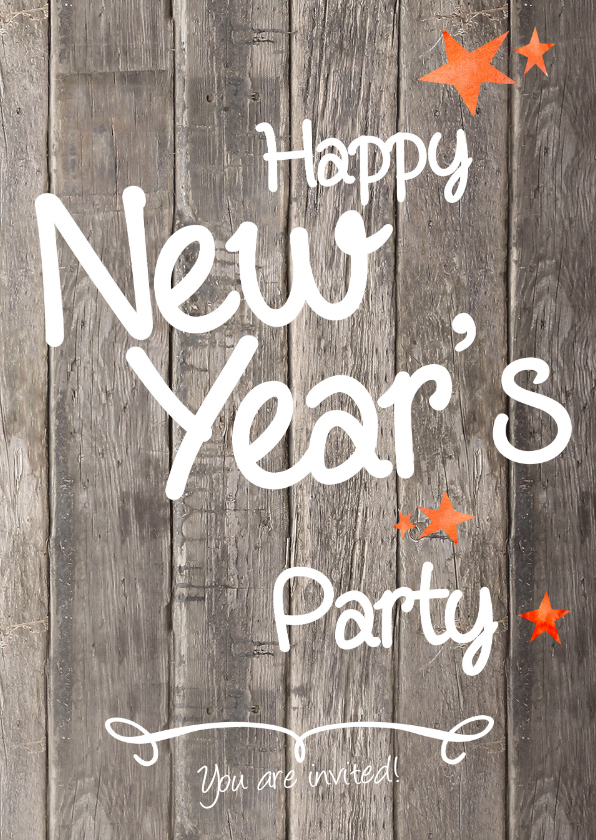 Nieuwjaarskaarten - Oud en Nieuw feest  uitnodiging