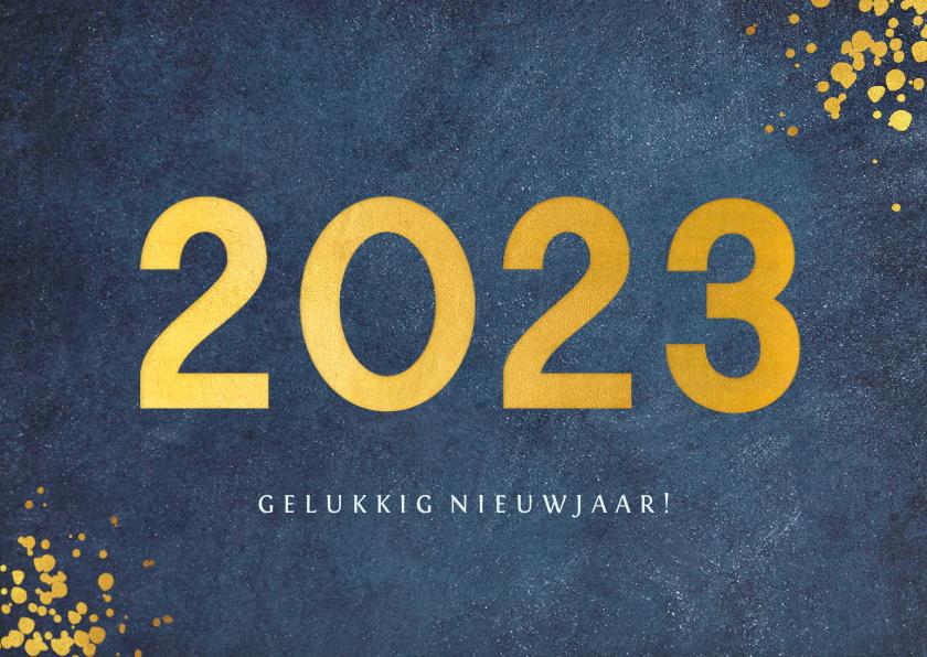 Nieuwjaarskaarten - Stijlvolle blauwe zakelijke nieuwjaarskaart jaartal 2022