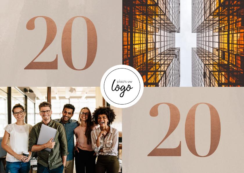 Nieuwjaarskaarten - Stijlvolle zakelijke nieuwjaarskaart met foto's en 2020