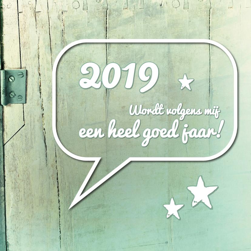 Nieuwjaarskaarten - Tekstballon 2018 goed jaar - SG