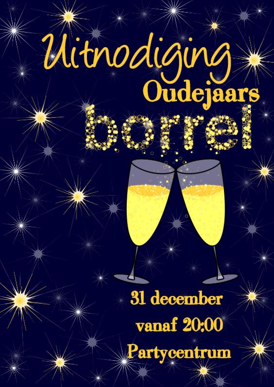 Nieuwjaarskaarten - Uitnodiging oude of nieuwjaarsborrel