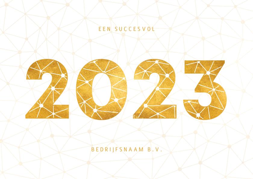 Nieuwjaarskaarten - Zakelijke nieuwjaarskaart gouden 2022 verbinding thema