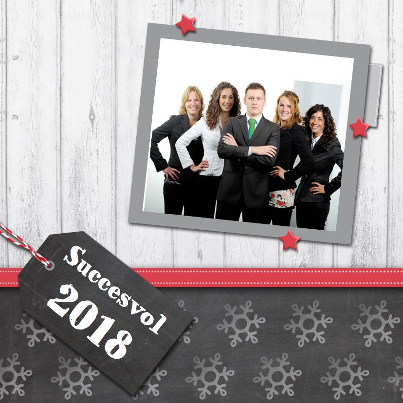 Nieuwjaarskaarten - Zakelijke nieuwjaarskaart krijtbord a