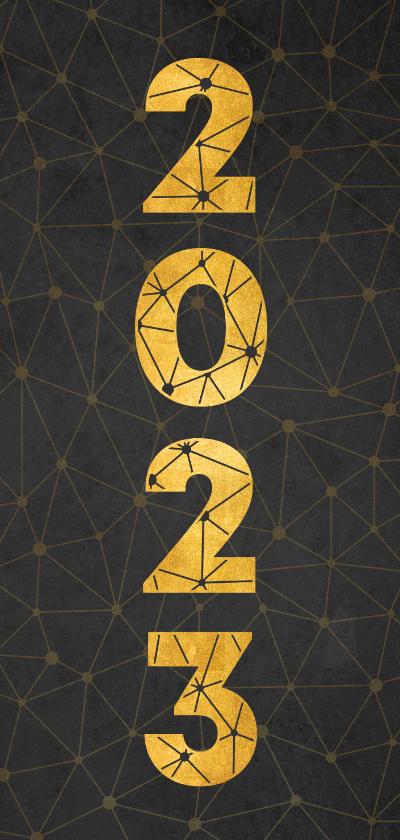 Nieuwjaarskaarten - Zakelijke nieuwjaarskaart verbinding thema gouden 2022