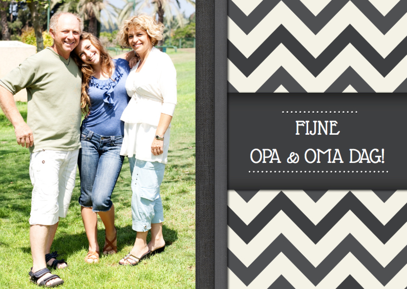 Opa en Oma kaarten - Opa en Oma dag Zigzag Foto