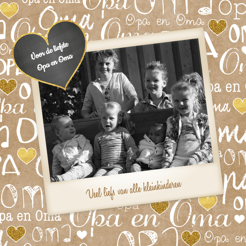 Opa en Oma kaarten - Opa en Oma kraft fotokaart