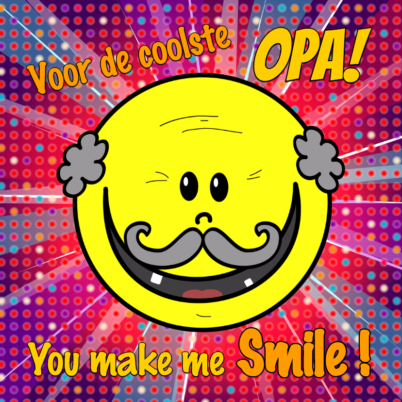 Opa en Oma kaarten - Opa you make me smile